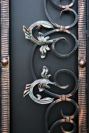 Detail of the forged gate photo