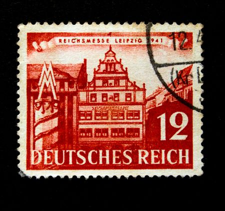 postmail: Old stamp.1941. Deutsche reigh. Germany. National exebition, Leipzig