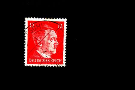 Old stamp. Circa 1940.Deutsches reich.Germany. Hitler Stock Photo
