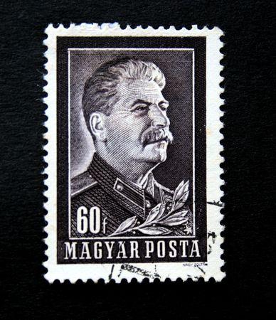 Old stamp. Circa 1950.Hungary.Stalin Editorial