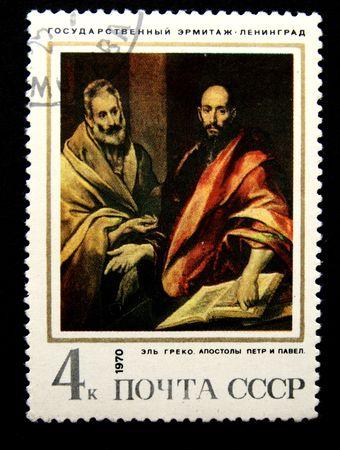 greco: El Greco (Domenikos Theotokopoulos) Apostles Saint Paul and Saint Peter