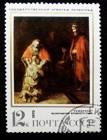 paint of artist Rembrandt Harmenszoon van Rijn