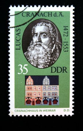 lucas: Lucas Cranach and his house in Weimar Stock Photo