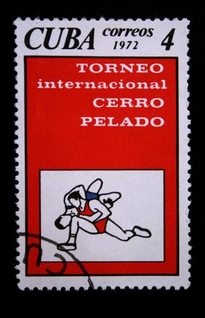 shooters: A stamp printed in Cuba shows images shooters, one stamp from series devoted Olimpic Games in Munchen, circa 1972.
