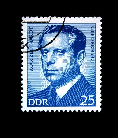 ddr: A stamp printed in GDR (East Germany) shows  Max Renhardt, circa 1975