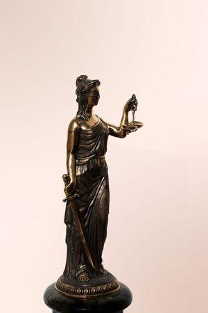 femida: Femida - simbol of justis isolated on white Stock Photo