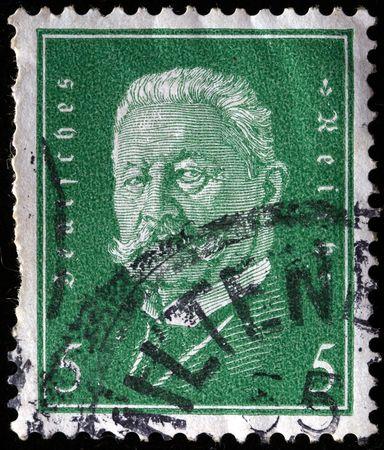 reich:  GERMANY-CIRCA 1943: A stamp printed in the German Reich depicting the portrait of Otto von Bismarck, circa 1943