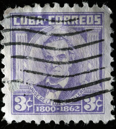CUBA - CIRCA 1890s: A stamp printed in Cuba shows Jose de la luz Catallero, circa 1890s Stock Photo - 7419141