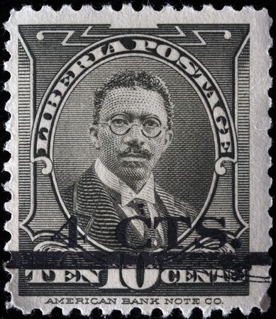 whig:  LIBERIA - CIRCA 1920s: A stamp printed in Liberia shows Charles Dunbar Burgess King, circa 1920s