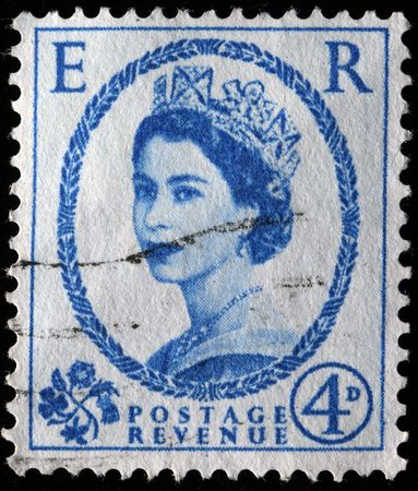 UNITED KINGDOM - CIRCA 1941: A stamp printed in UK shows Queen Elisabeth, circa 1941