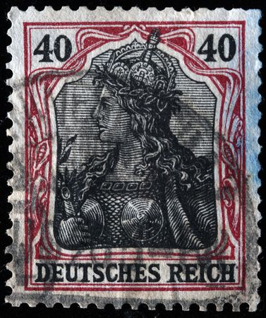 valkyrie:  GERMAN EMPIRE - CIRCA 1901-1919: A stamp printed in the German Empire shows image of Valkyrie, series, circa 1901-1919