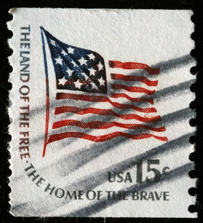 UNITED STATES OF AMERICA - CIRCA 1978: A stamp printed in the USA shows Fort McHenry Flag, circa 1978 Stock Photo - 7419181