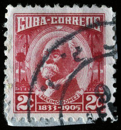 gomez:  CUBA - CIRCA 1913: A stamp printed in Cuba shows Maximo Gomez, circa 1913