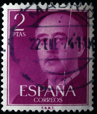 SPAIN - CIRCA 1961: A stamp printed in Spain shows Francisco Franco, circa 1961  Stock Photo - 7434509