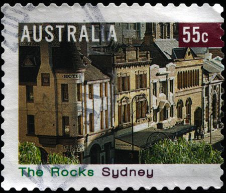 AUSTRALIA - CIRCA 2006: A stamp printed in Australia shows district of Sydney The Rocks, circa 2006  photo