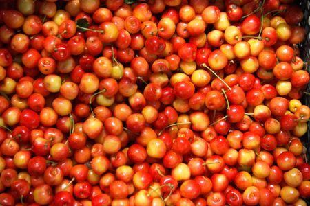 full frame organic sweet cherry background photo