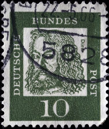 albrecht:  GDR -CIRCA 1970s: A stamp printed in the GDR (East Germany) shows Albrecht Durer, circa 1970s