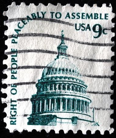UNITED STATES OF AMERICA - CIRCA 1975: A stamp printed in the USA shows Dome of Capitol, circa 1975 Stock Photo - 7687435