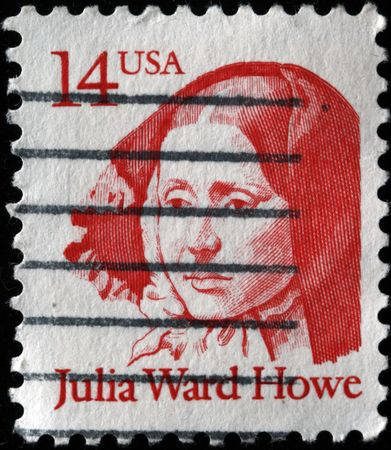 abolitionist:  USA - CIRCA 2000s: A stamp printed in the USA shows Julia Ward Howe, circa 2000s  Stock Photo
