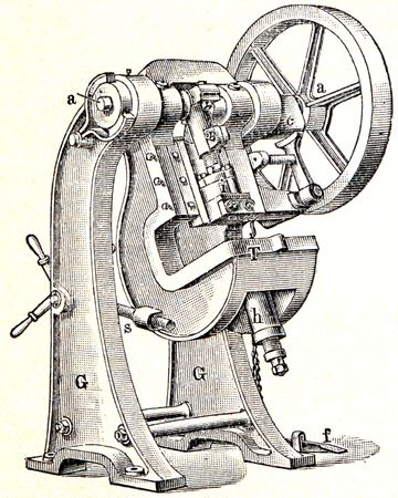 eccentric press Kneifel - an illustration of the encyclopedia publishers Education, St. Petersburg, Russian Empire, 1896 Stock Illustration - 7804187