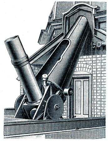 astrophysics: Equatorial observatory in Nice - an illustration of the encyclopedia publishers Education, St. Petersburg, Russian Empire, 1896