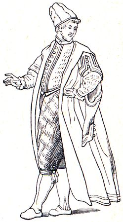 suit the era of Louis XVI  - an illustration of the encyclopedia publishers Education, St. Petersburg, Russian Empire, 1896 Stock Illustration - 7804193