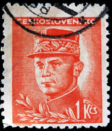 stefanik:  Czechoslovakia - CURCA 1918: A stamp printed in Czechoslovakia shows Milan Rastislav Stefanik, circa 1918