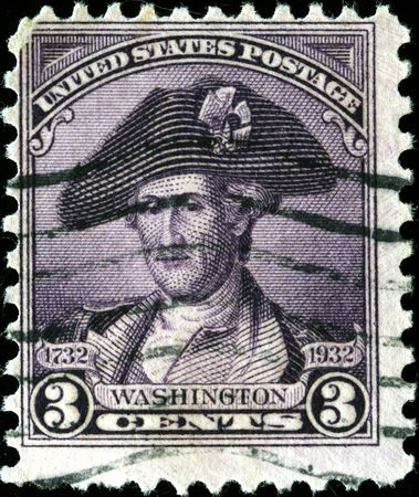 UNITED STATES OF AMERICA - CIRCA 1932: A stamp printed in the USA shows image of President George Washington, circa 1932