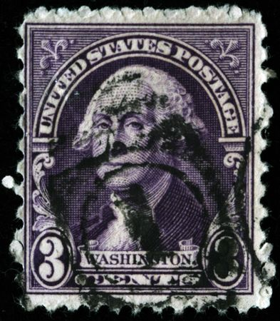 george washington: Estados Unidos de Am�rica - CIRCA 1919: Un sello imprimido en la imagen de muestra de Estados Unidos del Presidente George Washington, alrededor del a�o 1919