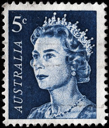 queen elizabeth: AUSTRALIA - CIRCA 1960s: A stamp printed in Australia shows Queen Elizabeth II, circa 1960s