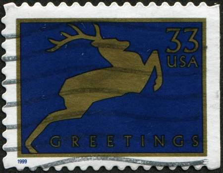 dedicated: UNITED STATES - CIRCA 1999: A stamp printed in United States dedicated Christmas, circa 1999