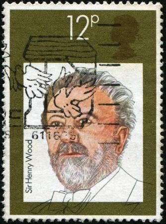 UNITED KINGDOM - CIRCA 1980: A stamp printed in United Kingdom shows Sir Henry Joseph Wood, circa 1980 Stock Photo - 8330255