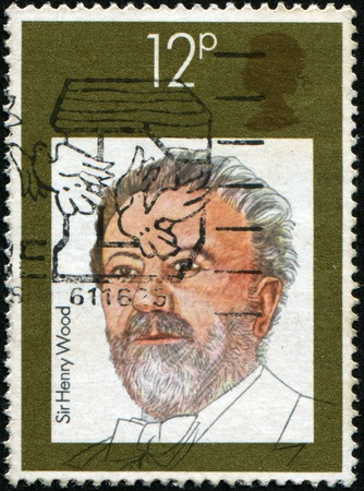 henry: UNITED KINGDOM - CIRCA 1980: A stamp printed in United Kingdom shows Sir Henry Joseph Wood, circa 1980 Stock Photo