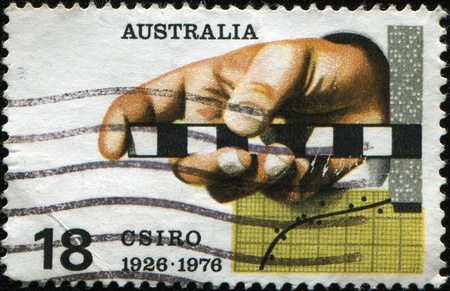 commonwealth: AUSTRALIA - CIRCA 1976: A stamp printed in Australia honoring 50 years of Commonwealth Scientific and Industrial Research Organisation, circa 1976