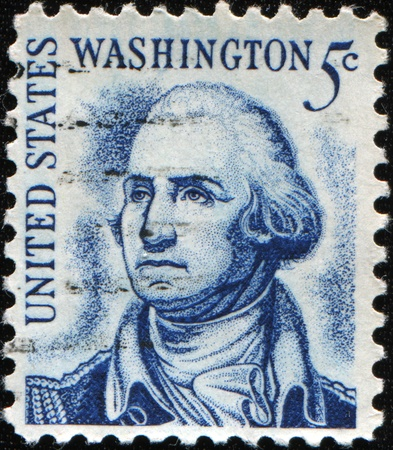 UNITED STATES AMERICA - CIRCA 1970: A postage stamp printed in the USA showing George Washington, circa 1970
