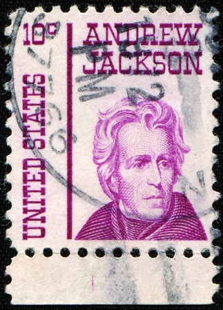 UNITED STATES OF AMERICA - CIRCA 1967: A stamp printed in the USA shows image of Andrew Jackson, the seventh President of the USA, circa 1967  Stock Photo - 8416554
