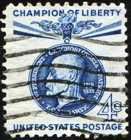 sociologist: USA-CIRCA 1960: A stamp image portrait Tomas Garrigue Masaryk, sometimes called Thomas Masaryk in English, was an Austro-Hungarian and Czechoslovak politician, sociologist and philosopher, circa 1960