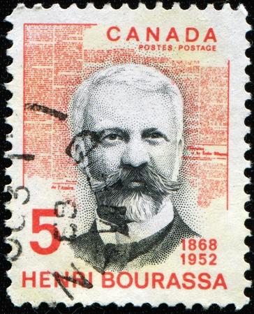 CANADA - CIRCA 1968: A stamp printed in Canada shows Henry Bourassa, circa 1968 Stock Photo - 8416600