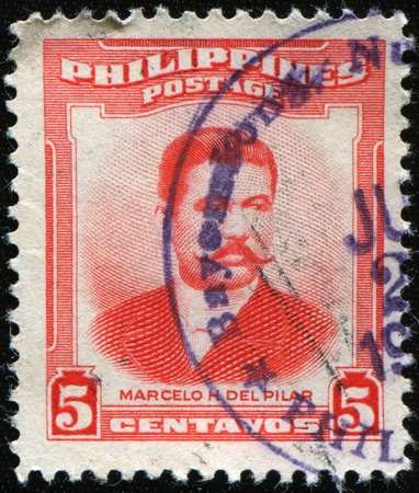 PHILIPPIES - CIRCA 1952: A stamp printed in the Philippines shows Marcelo del Pilar, circa 1952 Stock Photo - 8410700
