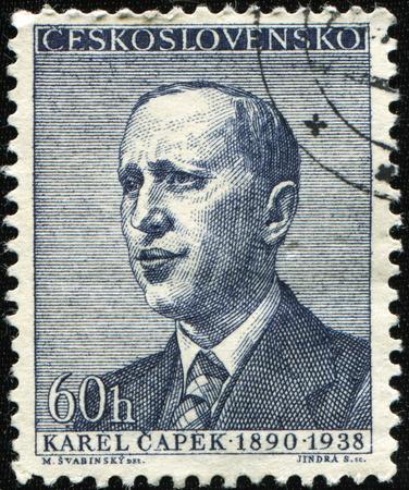 czechoslovakia: CZECHOSLOVAKIA - CIRCA 1968: A stamp printed in Czechoslovakia shows Karel Capek, circa 1968
