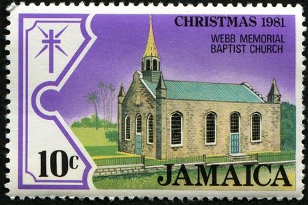 webb: JAMAICA - CIRCA 1981: A stamp printed in Jamaica shows Webb memorial baptist church, circa 1981