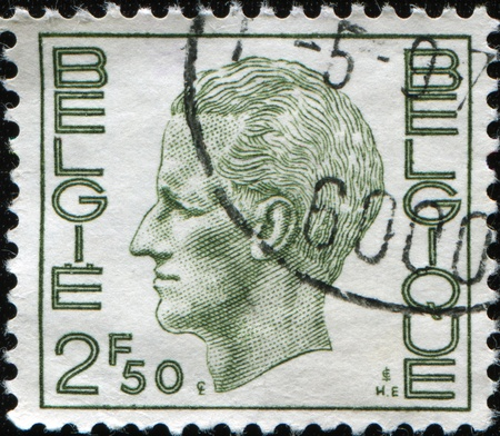 baudouin: BELGIUM - CIRCA 1980: A Stamp printed in BELGIUM shows the portrait of a Baudouin I (1930-1993) reigned as King of the Belgians, series, circa 1980  Stock Photo