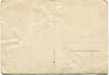 back side of an antique post card isolated on white  Stock Photo - 8776613