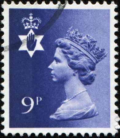 NORTHERN IRELAND - CIRCA 1971 to 1991: A Northern Ireland Used Postage Stamp showing Portrait of Queen Elizabeth 2nd, circa 1971 to 1991  Stock Photo - 8776968