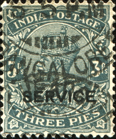 INDIA - CIRCA 1920s: A stamp printed in India shows image of King George V, circa 1920s