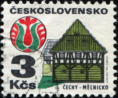 czechoslovakia: CZECHOSLOVAKIA - CIRCA 1972: A Stamp printed in Czechoslovakia shows Cechy Melnicko, circa 1972 Stock Photo
