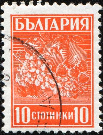 BULGARIA - CIRCA 1940: A stamp printed in Bulgaria shows fruit, circa 1940 photo