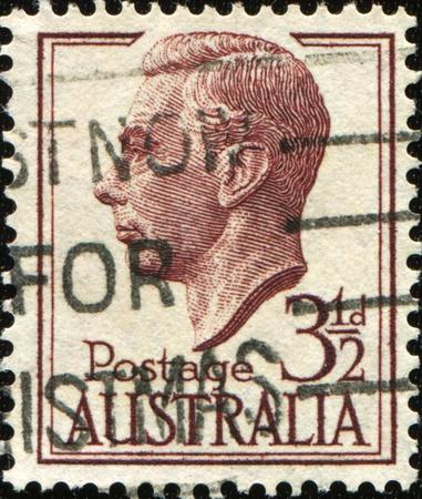 AUSTRALIA - CIRCA 1951: An Australian Used Postage Stamp showing King George VI, circa 1951 Stock Photo - 8790413