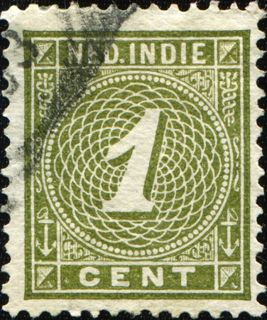 nederland: DUTCH EAST INDIES - CIRCA 1902: A  stamp printed in Dutch East Indies (Nederland Indie)  of numeral type shows  Stock Photo