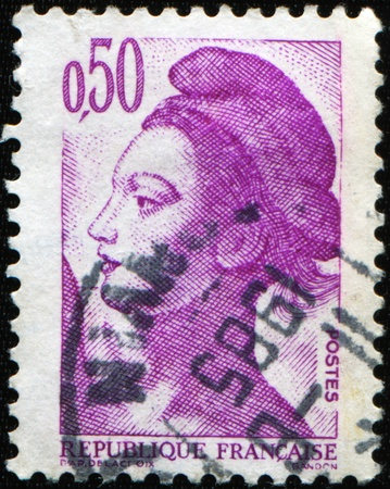 marianne: FRANCE - CIRCA 1980: A stamp printed in France shows image of the dedicated to the